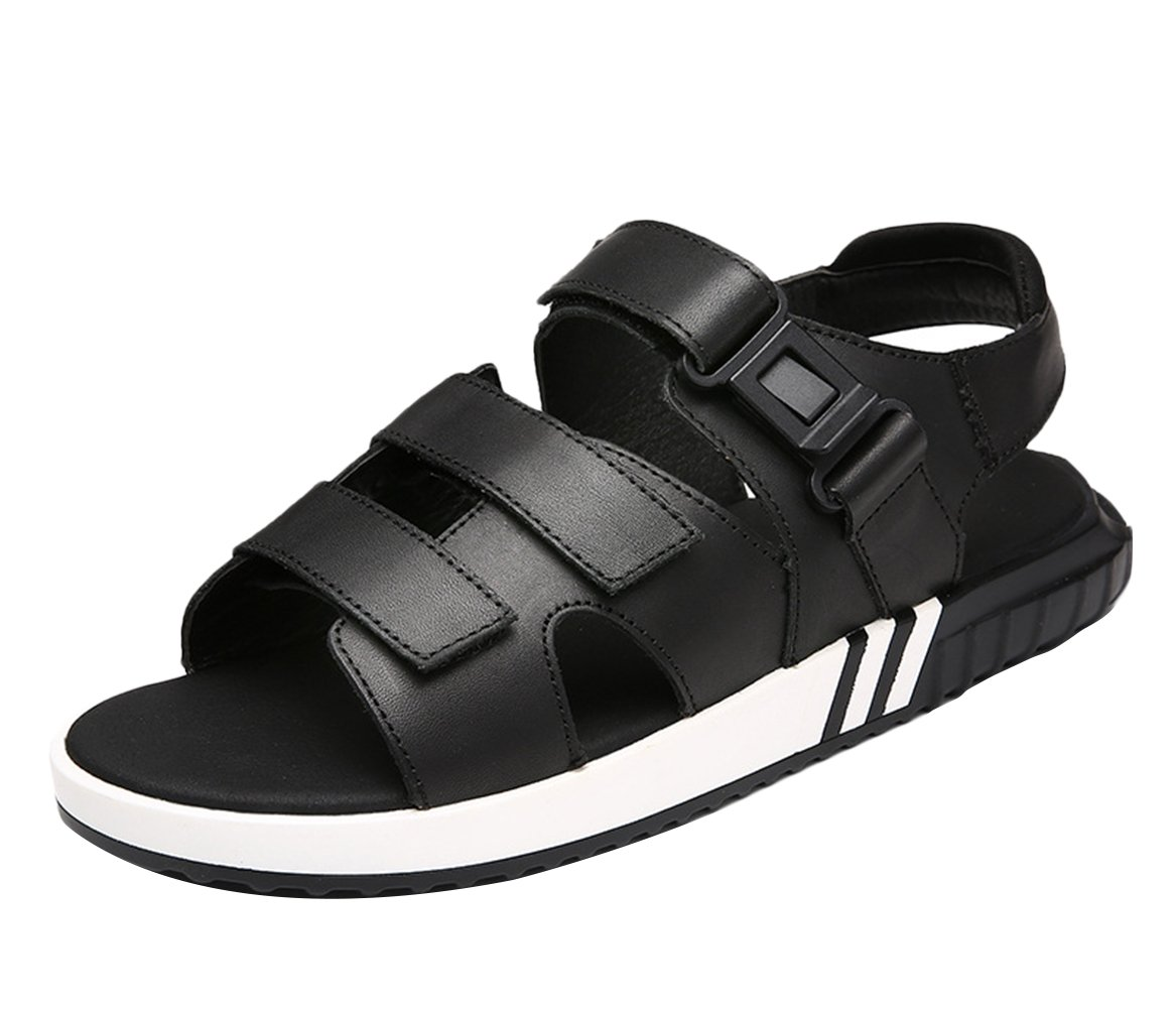 Icegrey - Sandalias de vestir de Piel Lisa para hombre 37 negro