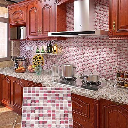 Bess Carrelage Moderne Multicolore Pour Cuisine Carrelage Decoratif En Vinyle Anti Corrosion Carrelage De Metro Carrelage