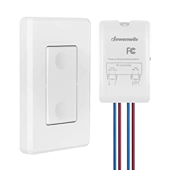 Dewenwils Wireless Light Switch And Receiver Kit Wall Switch Remote Control Lighting Fixture For Ceiling Lights Fans Lamps No In Wall Wiring Required 100 Ft Rf Range Programmable Amazon Com Industrial Scientific