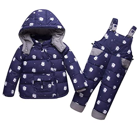 818436878324 AFCITY Kids Winter Snowsuit Cute Baby Toddler Girls Boys Winter Warm ...