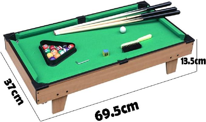 Mesa de billar YYX Madera Mini for Niños Edad 2 Arriba, Juego Set, Billar Cues x3, Bolas de Billar x16, Triángulo, Mesa de cepillos (Size : 52×31.5cm): Amazon.es: Hogar
