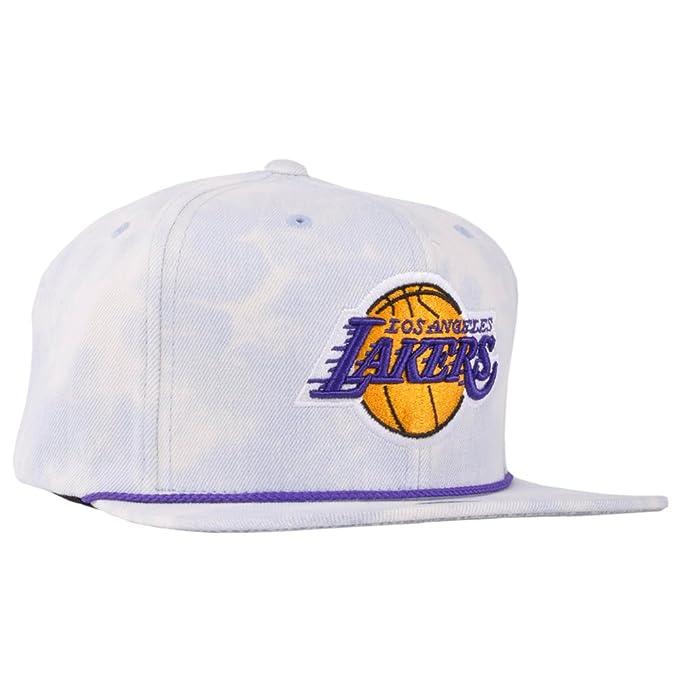 0402b0409fa Quality NBA Los Angeles Lakers Team Champs Acid Wash Mitchell Ness Snapback  Hat