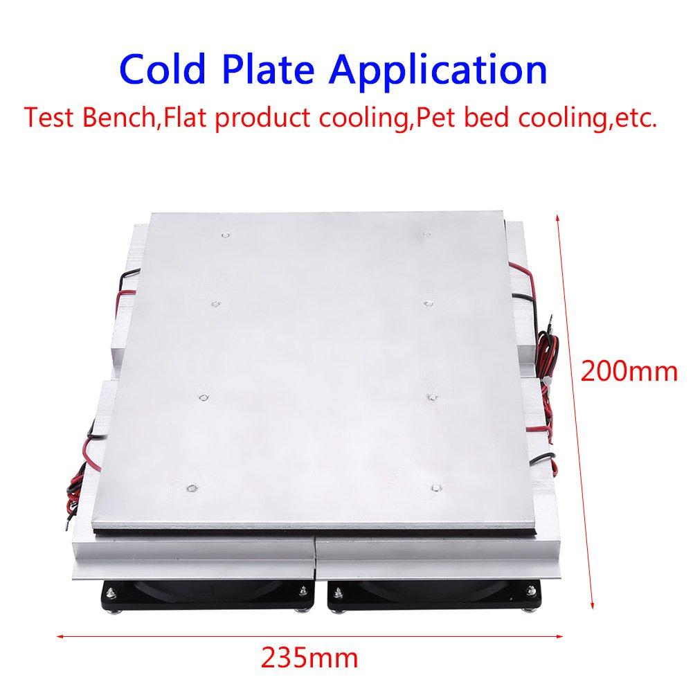 Akozon DIY Refroidisseur Semiconducteur Dair Eau R/éfrig/ération Refroidissement Thermostatique avec Ventilateur
