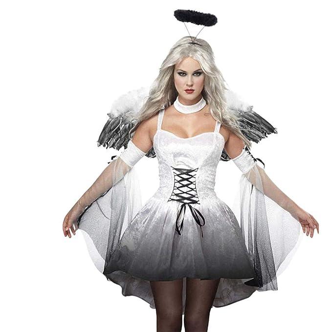 Amazon.com: LOKODO - Disfraz de ángel caído para mujer ...