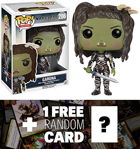 Garona: Funko POP! x Warcraft Vinyl Figure + 1 FREE Official World of Warcraft Trading Card Bundle (74692)