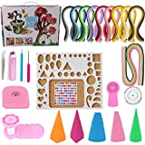 Paper Quilling Kit Assorted with 60 Colors 1625 Strips 15 Tools Beginners Quilling Kit for DIY Craft Scrapbooking Decoration Strips Tools