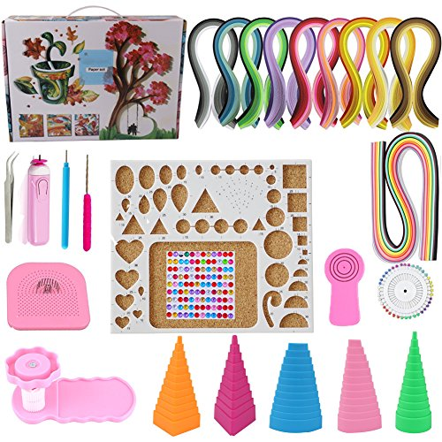 Paper Quilling Kit Assorted with 60 Colors 1625 Strips 15 Tools Beginners Quilling Kit for DIY Craft Scrapbooking Decoration Strips Tools by Dushi