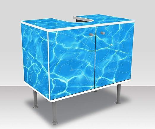 wandmotiv24 Mueble de baño Efecto de luz de Piscina de Agua Pegado Completo Lavabo, Mueble Lavabo M1010: Amazon.es: Hogar