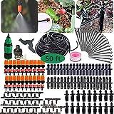 XIANGMENG Kit de riego por goteo de jardín de 50 pies-Sistema de riego por goteo de riego de plantas de bricolaje, Juego de riego de planta de micro jardín ajustable de 165 piezas para invernadero