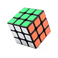 wings of wind - 3x3x3 Ultra-Smooth Magic Puzzle Cubo Colorato Sticker Cube (Nero), GuanLong