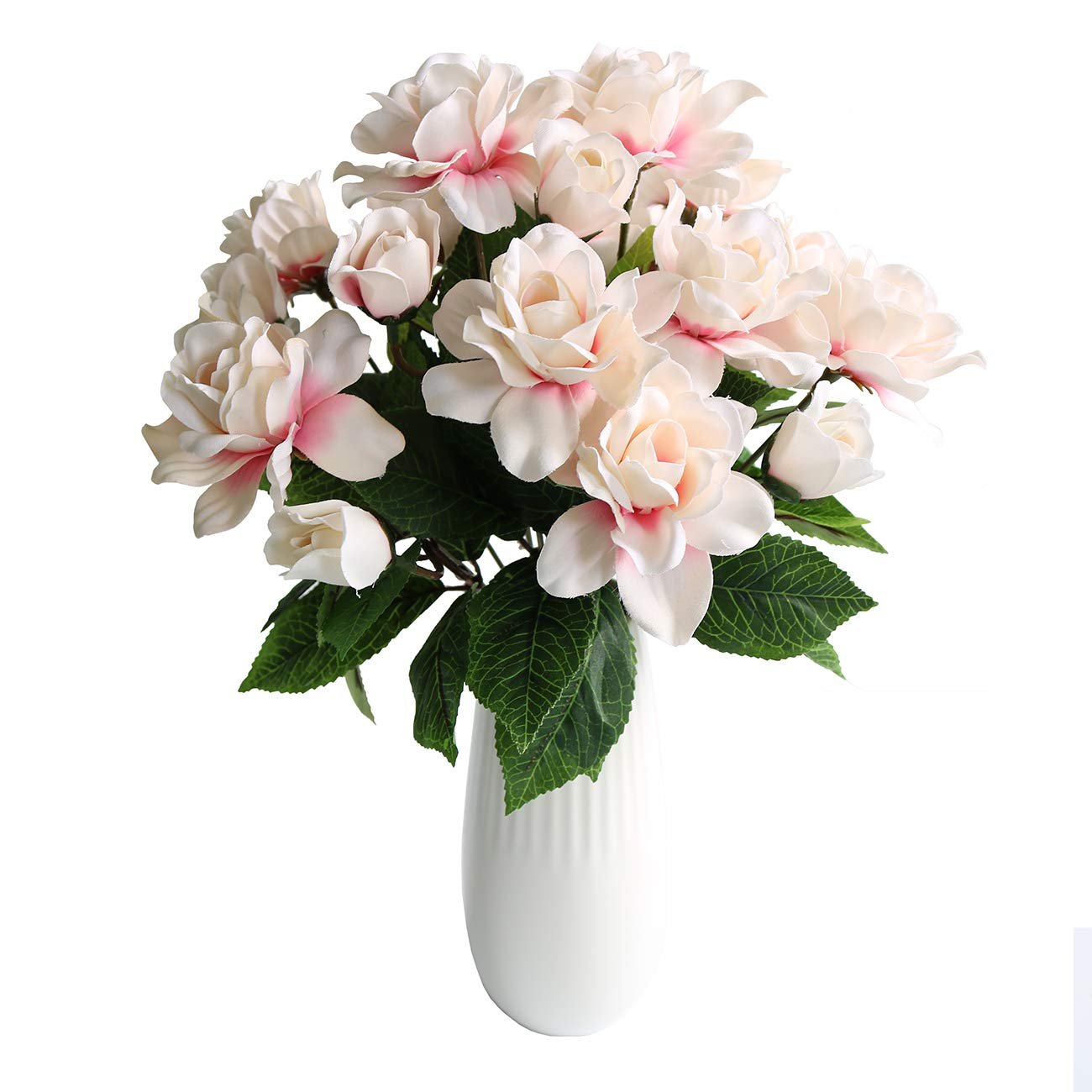 Htmeing-7-Branches-Silk-Jasmine-Artificial-Gardenia-Flower-Wedding-Decorative-for-Home-Decoration2-Bouquets-Pink