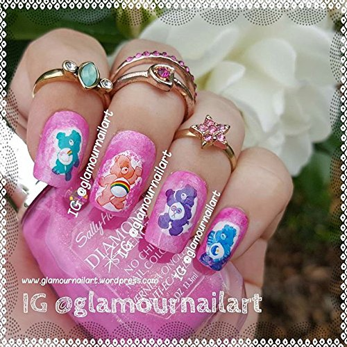 Care Bears Nail Decals Art (Adult Size) by Kaz Creations: Amazon.es: Belleza
