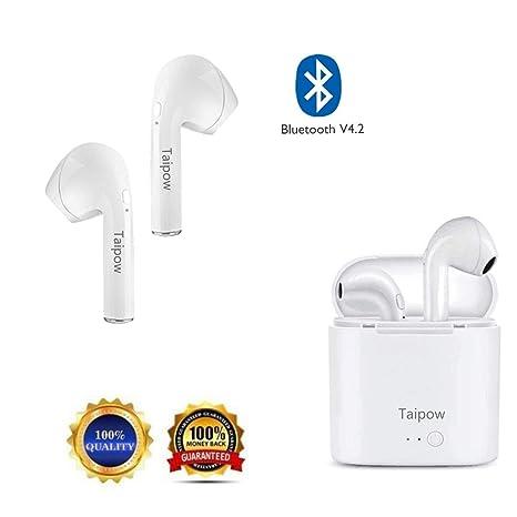 Auriculares Bluetooth inalámbrico 4.2 Deportivos, Cancelación Micrófono Manos Libres Wireless Earphones Cascos para Movil Samsung
