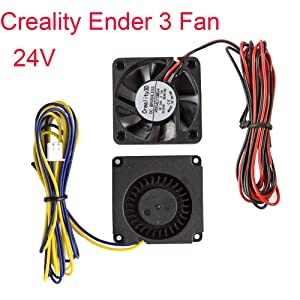 Creality Original 4010 Blower 40x40x10MM 24V DC Cooling Fan and 24V Circle Fan for 3D Printer Parts Ender 3/Ender 3 Pro