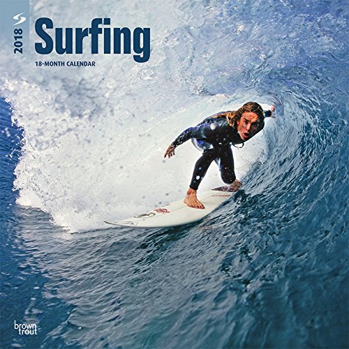 Surfing 2018 12 x 12 Inch Monthly Square Wall Calendar, Ocean Sea Beach Wave Sport (English, French and Spanish Edition)