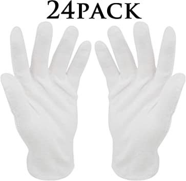 Guantes de algodón blanco,12 pares BESTZY Guantes terapéuticos hidratantes cosméticos para manos secas,ecczema,belleza,monedas,joyería e inspección de plata–Mediano: Amazon.es: Bricolaje y herramientas