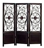 Deco 79 86285 Wood Metal 3-Panel Screen Ultimate in Its Category