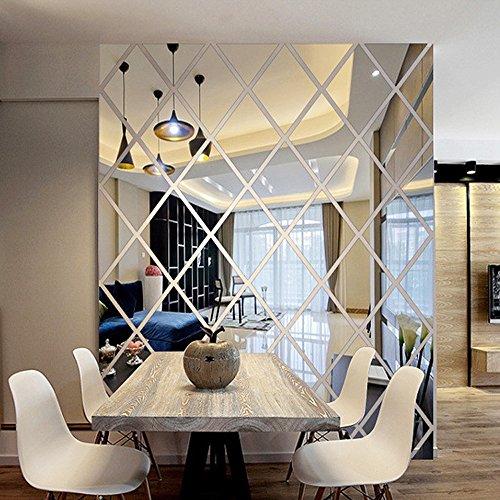 iLXHD DIY Love 3D Mirror Sticker Home Livingroom Decoration Wall Sticker