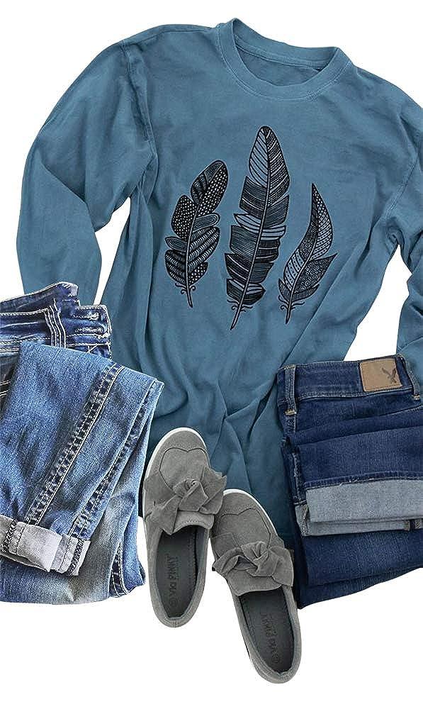674d1b2da7c Womens Long sleeve Boho Printed Shirts Casual Graphic Tees Blouse Tops  Material  100% Cotton Lightweight