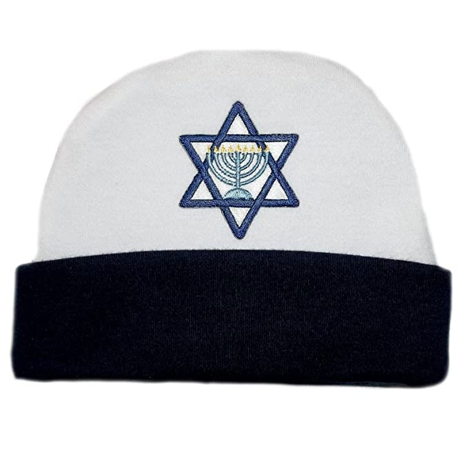 Amazon.com  Jacqui s Baby Boys  Navy Blue Star of David Hanukkah Hat ... fe7a95b0bcd