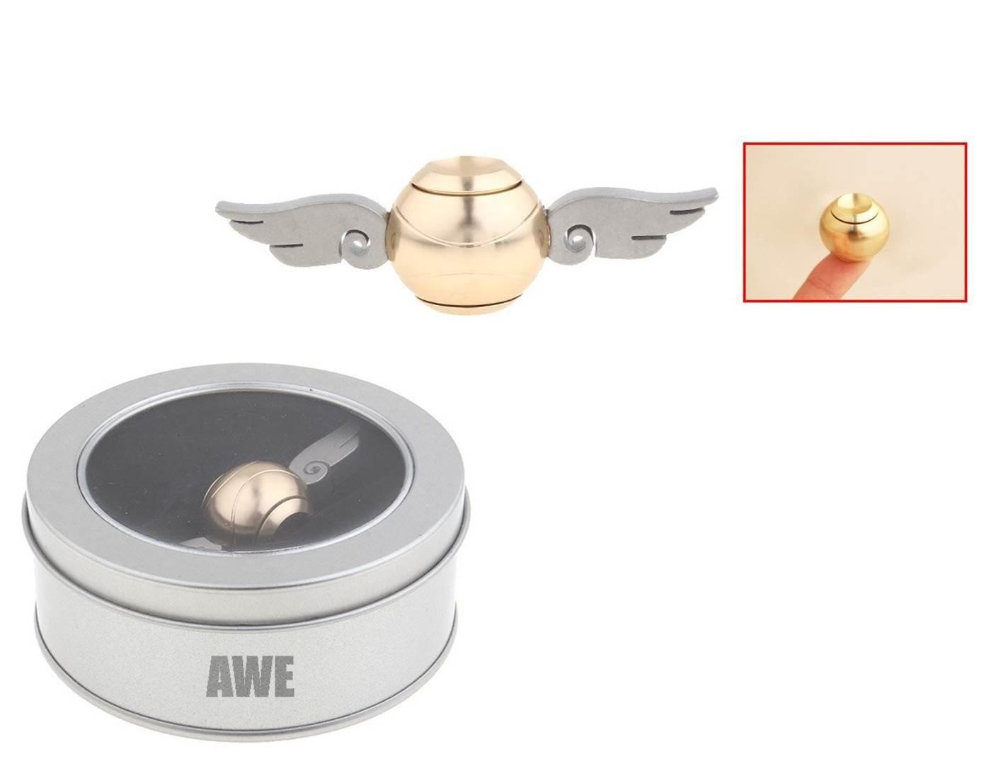 M.T.A Premium Golden Snitch Fidget Spinner Hand Fidget Spinner Focus Toy Aluminum + Stainless Steel +Box for a Gift