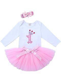 BabyPreg® Bebé Niña 4pcs Corona Patrón de Primer cumpleaños ...
