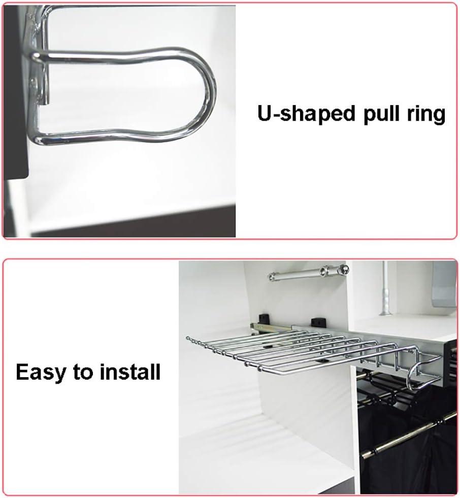 FKKleiderstangen Montage an der linken Seite 10 Paar Hosenaufh/änger herausziehbarer Hosenhalter ausziehbare Krawattenhalter-Aufh/ängeschiene
