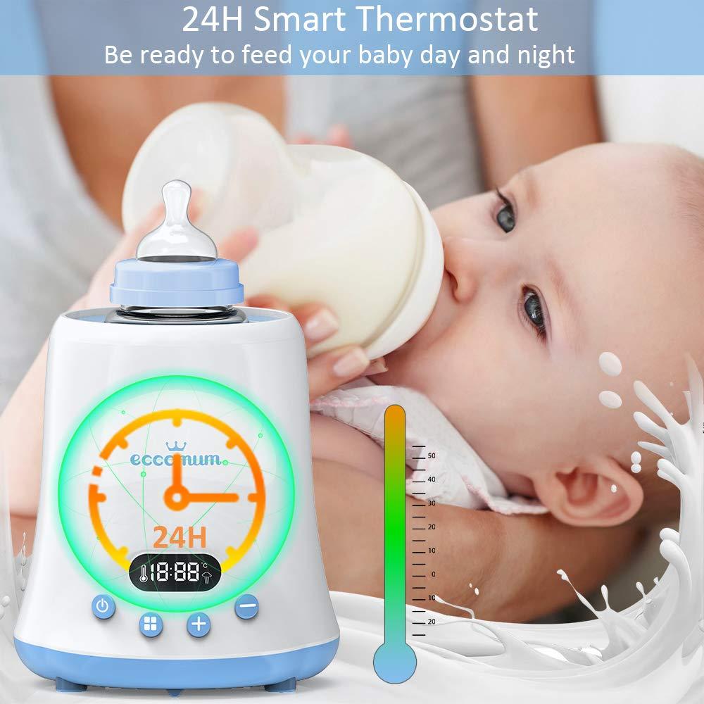 schnelle Erw/ärmung Flaschenw/ärmer baby Eccomum Sterilisator f/ür Flaschen-und Babykostw/ärmer Passend f/ür alle Babyflaschen mit LCD Bildschirm// Ern/ährungsschutz-Technologie//Erinnerungsfunktion