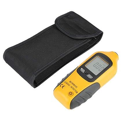 HT-M2 Amarillo Pantalla LCD digital Detector de fugas de microondas Probador del medidor de