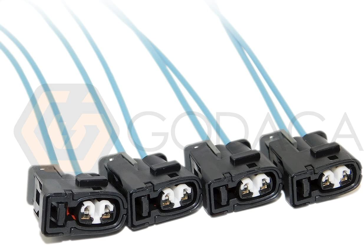 4x Connector 2-way 2 pin for Toyota Fuel Injector 90980-11875