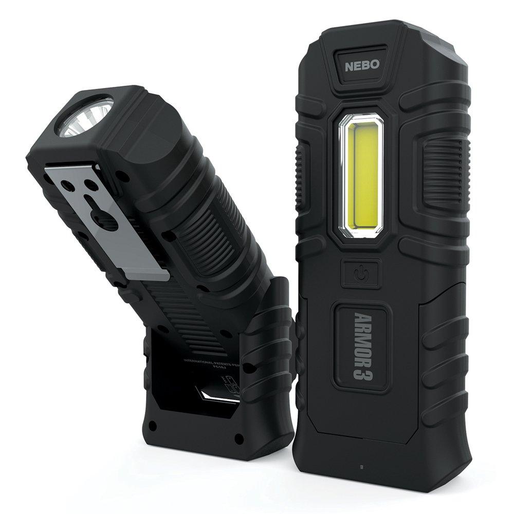 NEBO 6526 Armor3 Flashlight - Indestructible Waterproof Floating Impact-resistant 360 Lumen Work Light