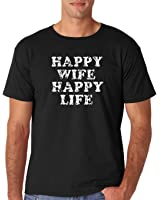 AW Fashions Happy Wife, Happy Life - Funny Marriage Premium Men's T-Shirt