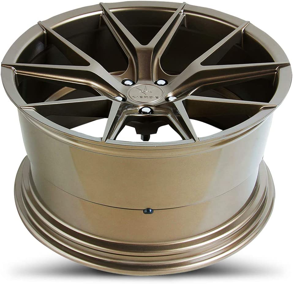 22 x 9. inches //5 x 112 mm, 32 mm Offset Verde Wheels Axis Gloss Bronze Wheel with Painted