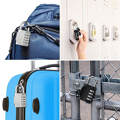 Blingco Combination Lock, 4 Digit Anti Rust Padlock Set Security Padlock for Gym, Sports, Fence, School and Employee Locker, Outdoor, Hasp Cabinet and Storage, 2 Pack by Blingco (Image #6)