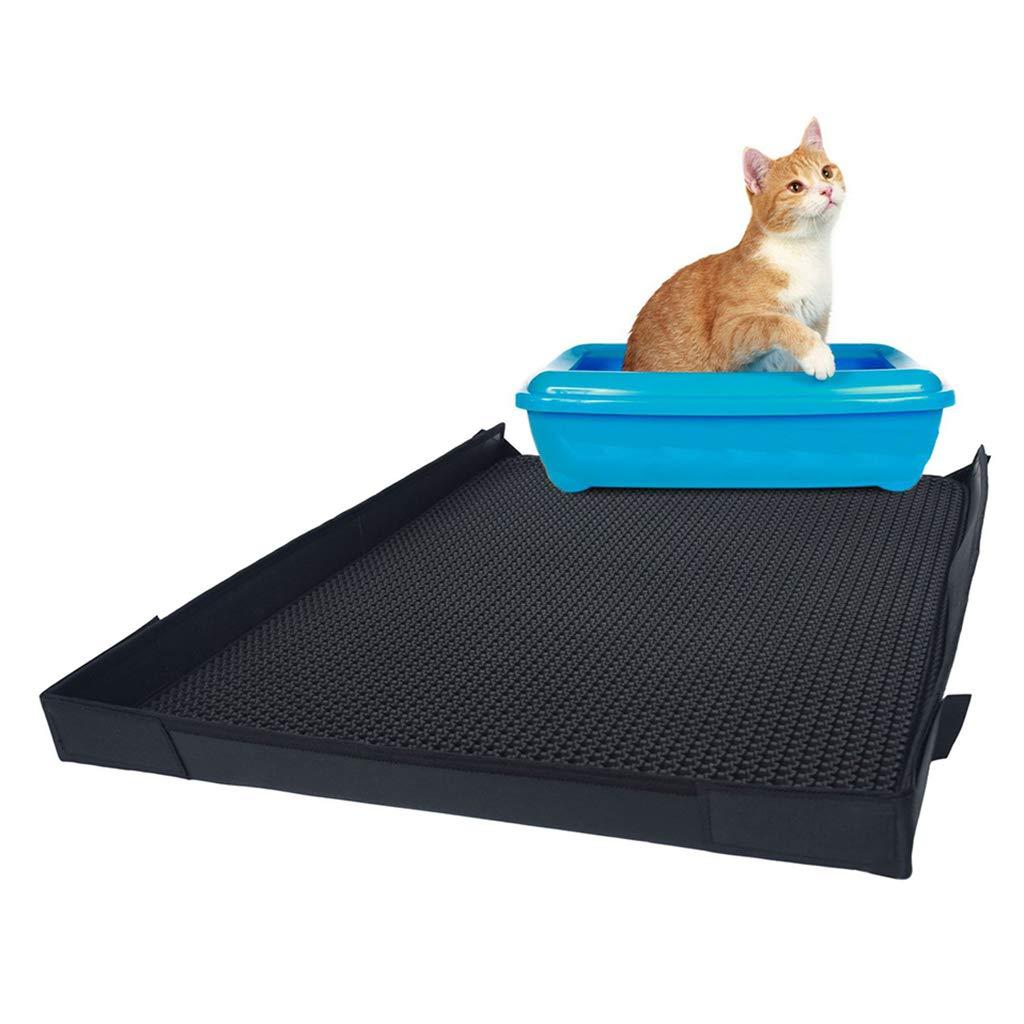 Cat Litter Mat Litter, Trapping Mat Double Layer Design Honeycomb Waterproof Scatter Control Heightening Edge Prevent Splashing,21.6×30in
