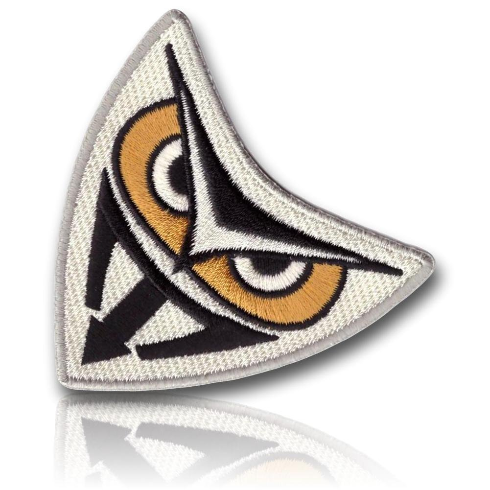 """[Single Count] Custom, Cool & Awesome {2.5 Inches} Triangular Tactical Morale Blade Runner's Running Owl Replicant Cosplay Costume Uniform (Decorative Fasion) Hook Fastener Patch """"White & Black"""" 13th Titan"""