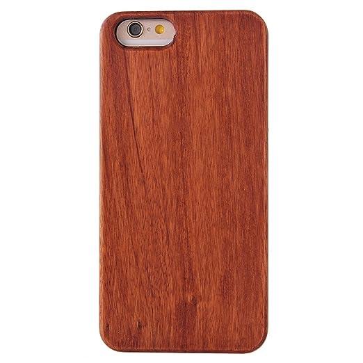 15 opinioni per iphone SE Cover, G-i-Mall Ultra Sottile Vero legno Hard Back Wood Custodie