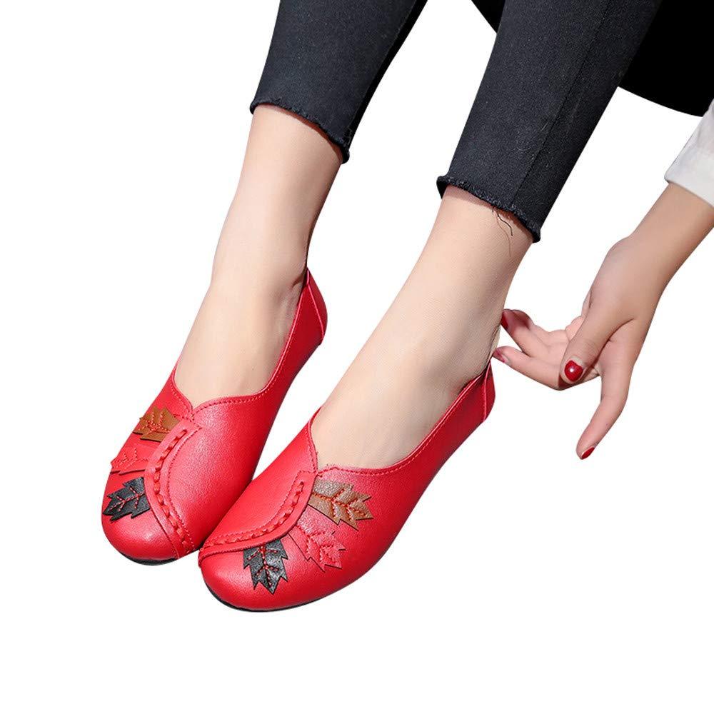 Zapatos de cuña Náuticos Zapatos de Vestir para Mujer Otoño Invierno Moda 2018 PAOLIAN Calzado Planos Maternidad Señora Suela Blanda Cómodos Zapatillas Dama ...