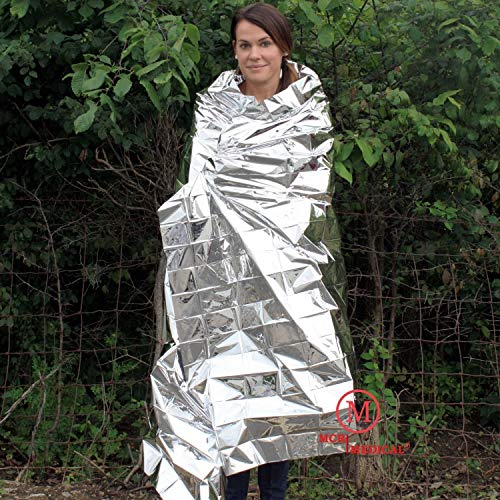 MCR Medical Supply SB2-200 Silver Mylar Emergency Blanket, 84'' x 52'' (Pack of 200) by MCR Medical (Image #3)