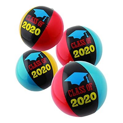 """Fun Express Inflatable Class of 2020 Beach Balls (1 Dozen) Graduation Party Supplies, Party Decorations, 11"""" Inflated: Toys & Games"""