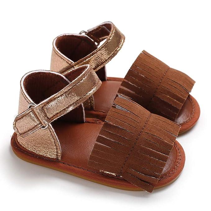 Berimaterry Zapatos de bebé Sandalias Niño Recién Nacido niña Suave ...