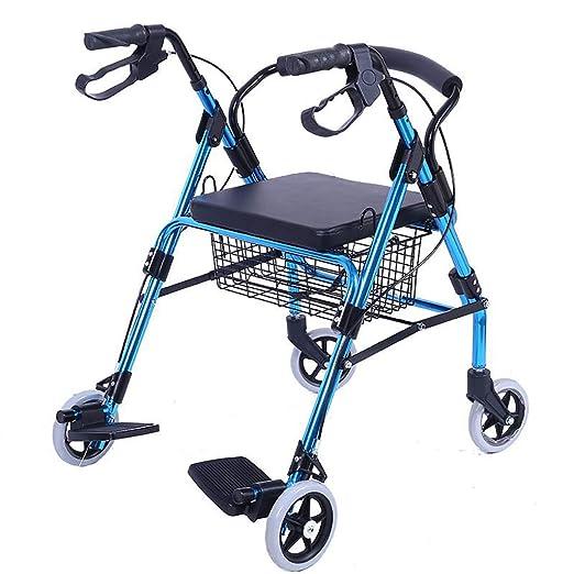 wheelchair Silla de Ruedas Plegable con Ruedas: Andador ...