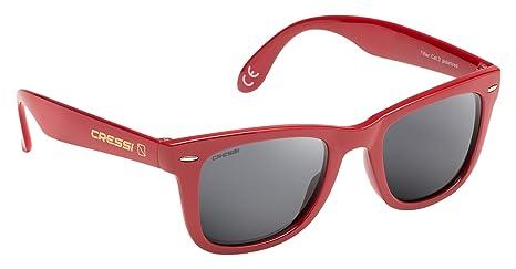 Cressi Occhiali da Sole di Alta Qualità Lenti con Filtro Solare Antiriflesso e Protezione 100% Raggi UV - Tortuga - Giallo/Grigio ZT13VPU