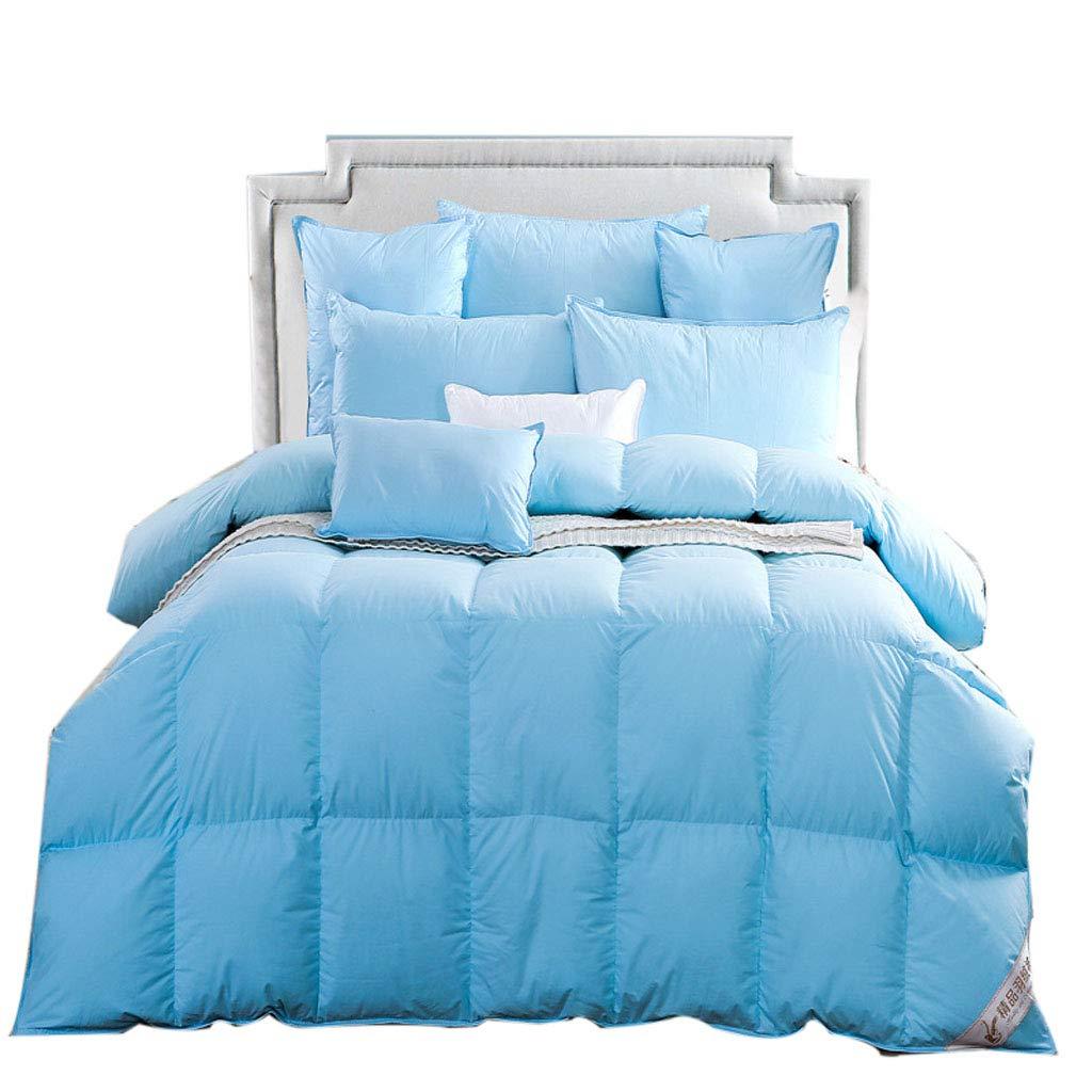 Mesurn JP コットン布団、綿の羽毛布、スーパーソフトダウン、吸湿、厚手暖かい家のキルト B07KTZF2T8 blue 180*200(4kg)