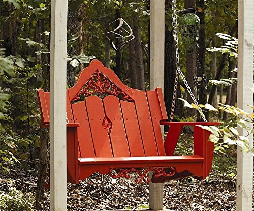 Uwharrie Outdoor Swing in Southern Pine with Cast Inserts (Hunter)