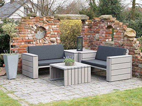 Loungemöbel Set 8 Holz, inkl. Polster - Lieferung komplett montiert