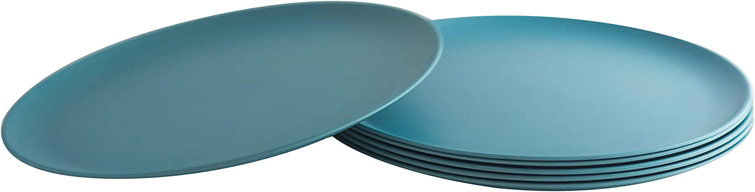 Natura Green- Bamboo Plates- Set of 6-10 inches (Blue)