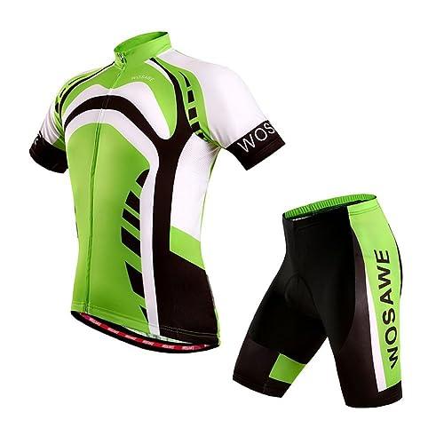 Fastar Ensembles de vêtements de vélo pour hommes Vêtements de vélo respirant à l'été Vêtements de vélo Vêtements de sport d'équitation S M L XL XXL