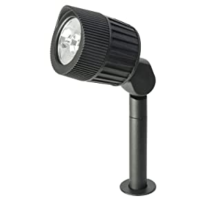 "Sterno Home GL33008BK Paradise Low-Voltage Cast Aluminum LED Black Spot Light, 9"""