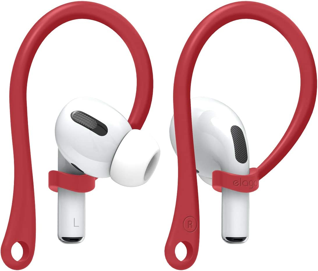 elago AirPods Pro Ear Hooks Designed for Apple AirPods Pro and AirPods 1 & 2 (Red) [US Patent Registered]